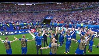 Iceland Wins. Everyone Goes Nuts. (Ísland Vinnur. Allir Bilast.)