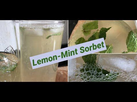 lemon-mint-sorbet-|-zitronen-minze-sorbet-|-ಪಾನಕ