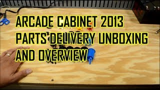 Arcade Cabinet Build 2013 - Part 5 - Unboxing New Parts (buttons And Joysticks)