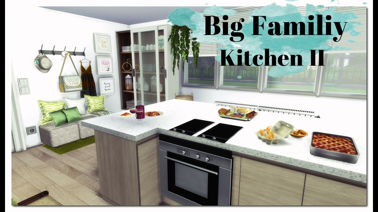 Sims 4 big family kitchen ii room mods for download for Large family kitchen