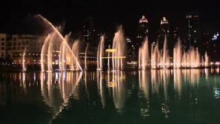 Water dance in the lake of Burj Al Khalifa