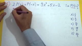 Polinomlar Soru Çözümü Şenol Hoca Matematik