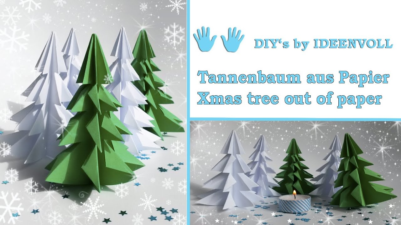 tannenbaum aus papier xmas tree out of paper youtube. Black Bedroom Furniture Sets. Home Design Ideas