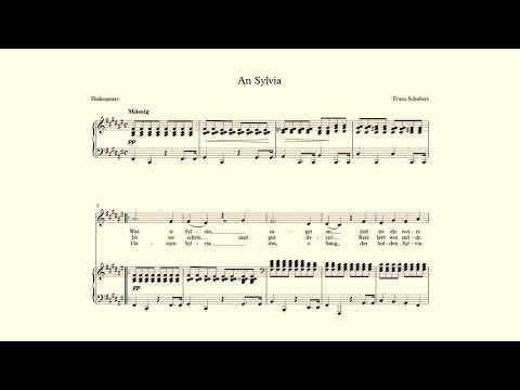 An Sylvia - Schubert - accompaniment in F# Major