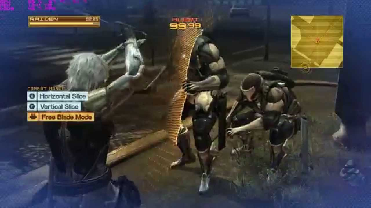 Metal Gear Rising Revengeance - PC - Crazy Blade Mode Slicing - YouTube