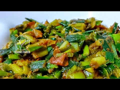 fresh-green-onion-leaves-curry-|-how-to-make-spring-onion-curry-recipe-|-side-dish-for-chapathi