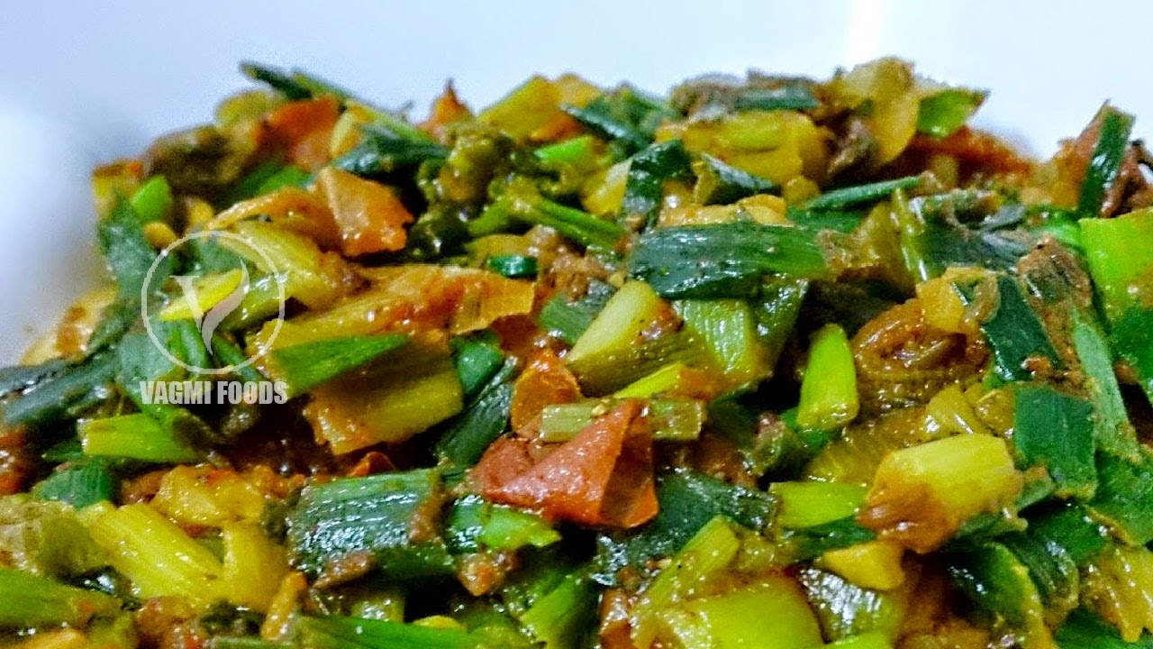 Fresh Green Onion Leaves Curry How To Make Spring Onion Curry