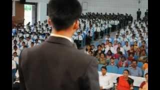Sainik School Bijapur  GJ SPIC MACAY Dr  Smt  Teejan Bai introduced