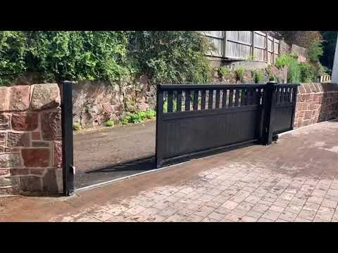 Aluminium sliding gate installed in Heswall