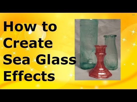 How to make sea glass effects