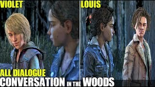 Violet & Louis Talk With Clementine In The Woods (All Dialogue) TWD The Final Episode 4