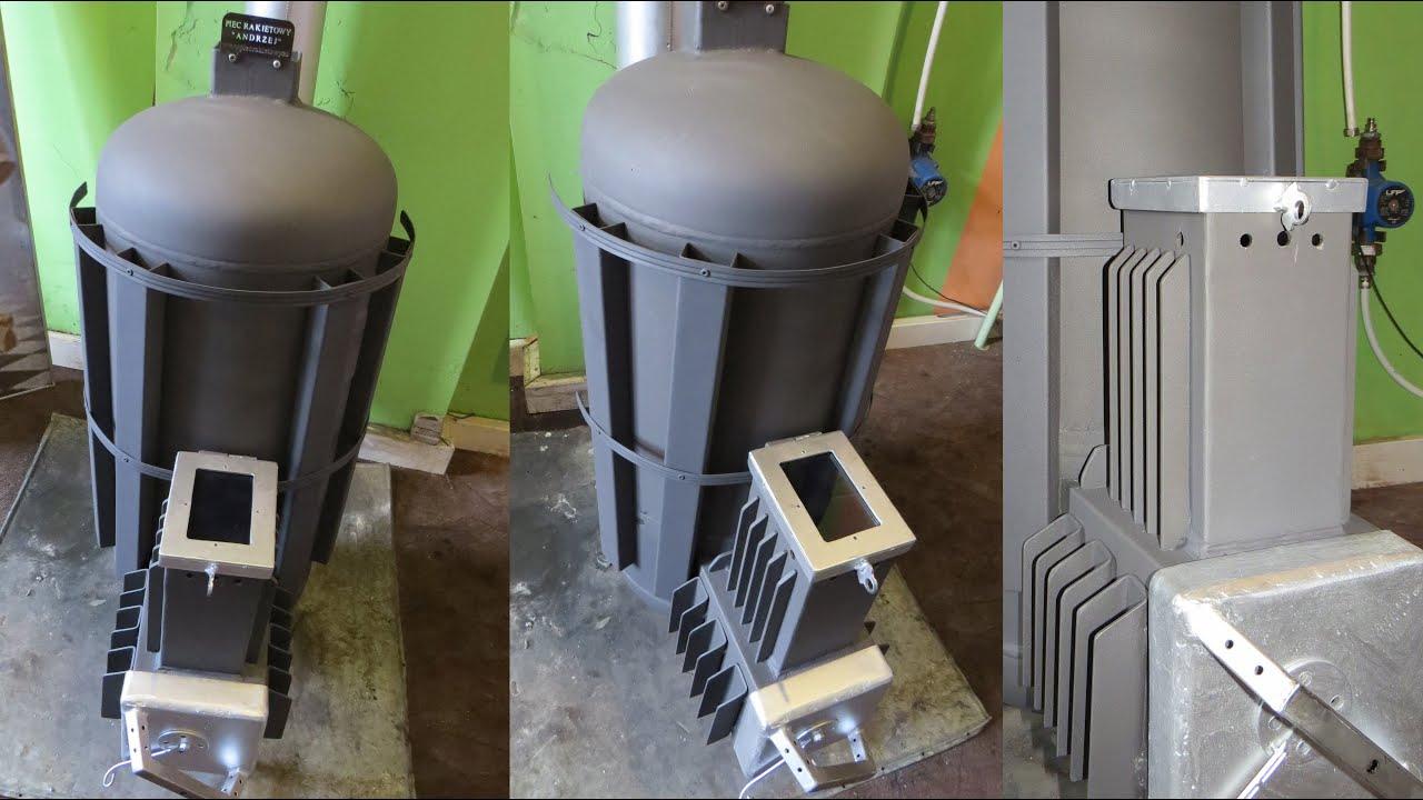 Piec Rakietowy Andrzej V2 1 2 Koza Holzgas Rocket Stove
