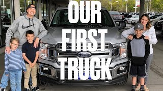 BUYING A NEW TRUCK   FIRST TIME TRUCK BUYERS   WE BOUGHT A NEW 2018 FORD F150!