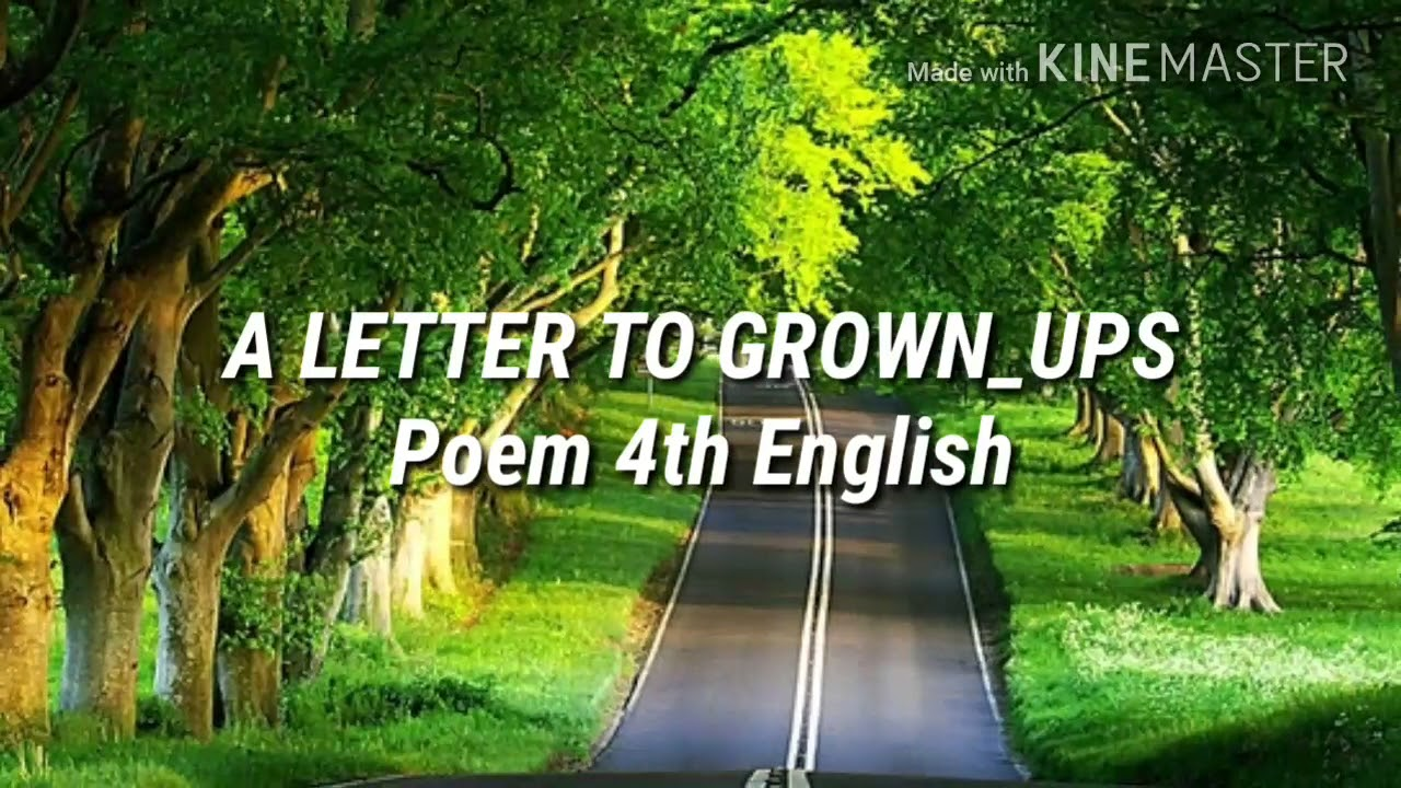 4th English Tamil Nadu A Letter To Grown Ups Youtube