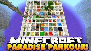 Minecraft PARADISE PARKOUR! (Over 100 Stages & Hour Long Parkour Map!) w/PrestonPlayz & MrWoofless
