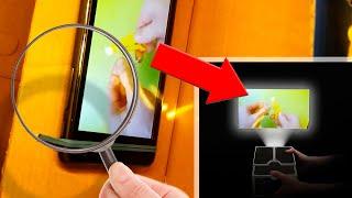 Projecteur de Box et Lense | Comment faire un projecteur pour smartphone | Comment faire | #DIY thumbnail