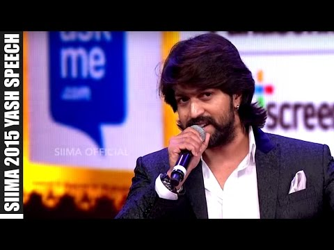 Micromax Siima 2015 | Yash Awarded As Best Actor | Kannada