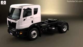 Mahindra Navistar MN35 Tractor Truck 2010 by 3D model store Humster3D.com