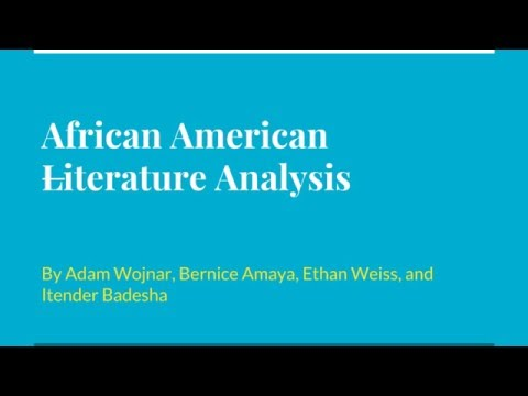 An African American Literature Analysis