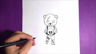 HOW TO DRAW PINK BEAR CHIBI (SKIN FORTNITE)