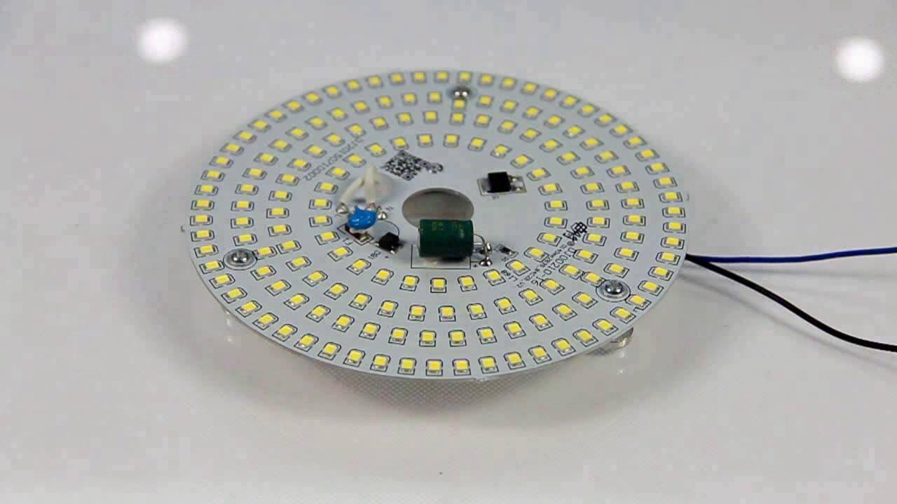 led ceiling light retrofit kits led module ceiling round - YouTube