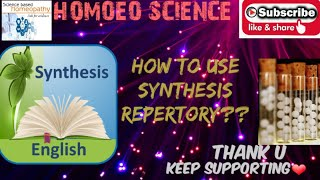 How to use synthesis repertory !! Best mobile repertory for learners & Students screenshot 4