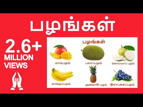 பழங்கள் | Learn Tamil Fruits Name Video For Kids And Children In Tamil |Tamilarasi