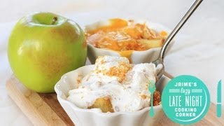 Microwave Single Serve Apple Pie (and A Debate: To Cheese Or Not To Cheese?)