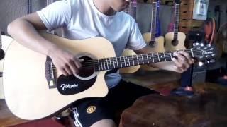 Test Guitar Takamine EQ Piezo   Mây guitar