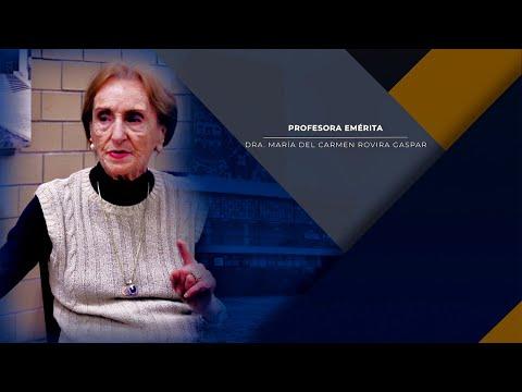 Profesora Emérita Dra. María del Carmen Rovira Gaspar