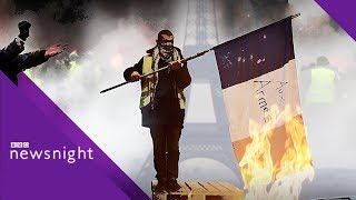 Gilets Jaunes: Are nationalists infiltrating the 'yellow vests'? - BBC Newsnight