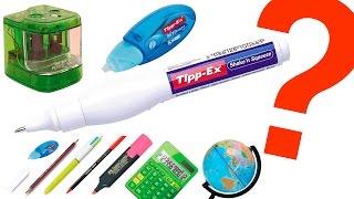 Qué Hay Dentro de un Tippex, un sacapuntas eléctrico y más material escolar?