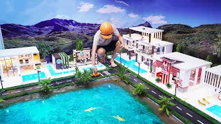 AMAZING! Building Miniature Model City At Home - How to Make A Modern Mini City With swimming pool