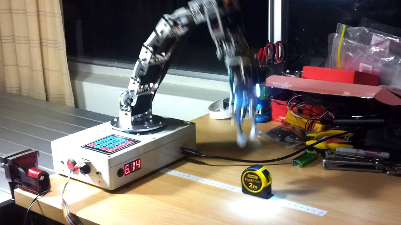 Arduino robot arm object detection trial youtube