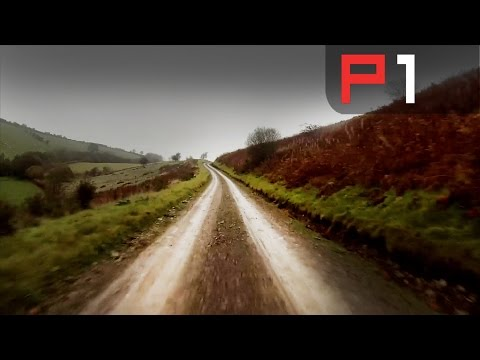 RALLY CAR FLAT OUT IN WELSH FORESTS - ELFYN EVANS