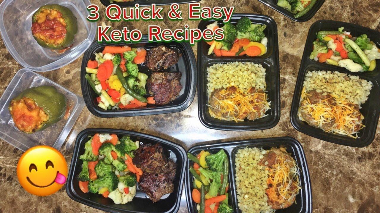3 Easy Keto Meals Beginner Friendly Meal Prep Youtube