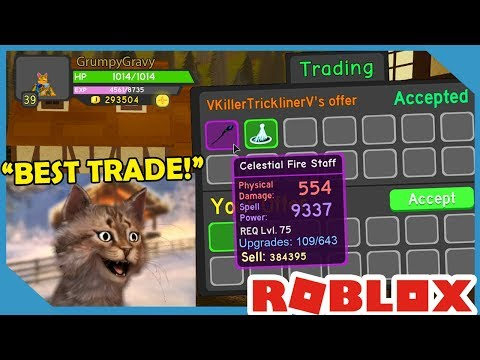 Insane Trade For MAX LEVEL STAFF In Roblox Dungeon Quest