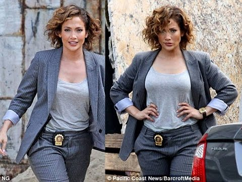 Jennifer Lopez  and Drea de Matteo  filmed a scene for their upcoming show, Shades Of Blue, on Wedne