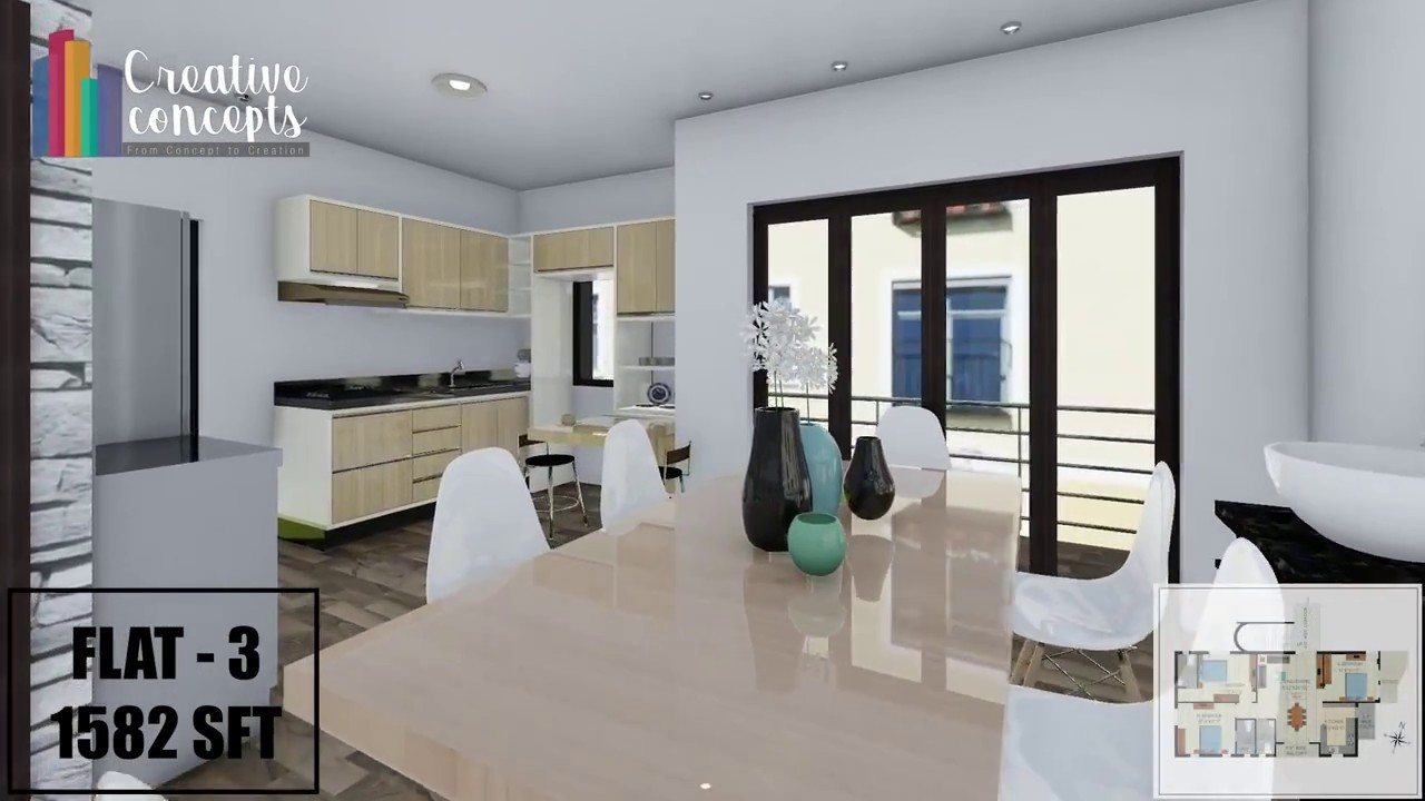 2 3 Bedroom Apartments In Himayat Nagar Hyderabad Creative Concepts Youtube