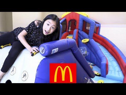 Pretend Play McDonalds Drive Thru with Giant Playground