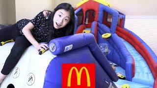 Pretend Play McDonalds Drive Thru with Giant Playground