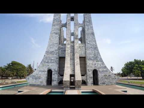 Accra | Ghana | Independence Arch, rich modern buildings ,  dusty shanty towns, University