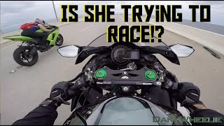 Ninja H2 : Rain Ride - Biker Chick Tags Along! thumbnail