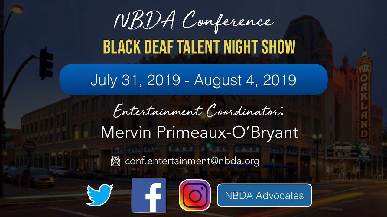 Black Deaf Talent Night Show for 2019 NBDA Conference