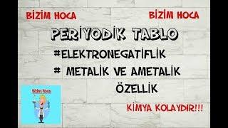 Periyodik Tablo 9. Sınıf # Elektronegatiflik # Metalik ve Ametalik Özellik (2018)