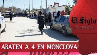 Balacera en Monclova; abaten a jefe de plaza