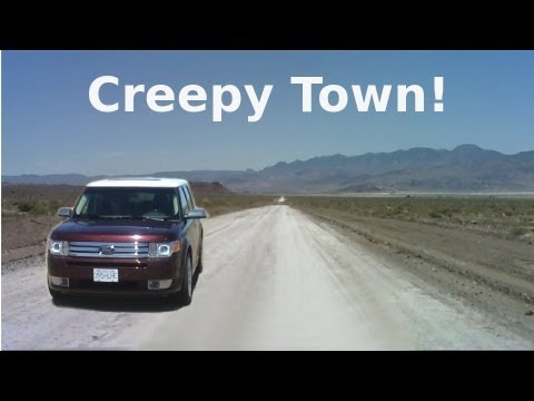 Strange Creepy Town Near Area 51 - Semi Abandoned Town in Nevada Desert - The REAL Loneliest Road!