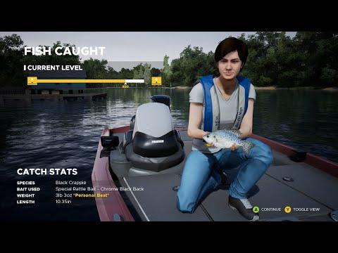 BLACK CRAPPIE  FISHING SIM WORLD  PC GAME  GIRL FISHING A24  