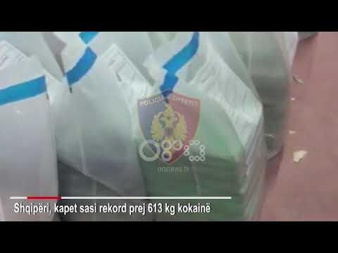 Ora News - Kapet sasi rekord e kokainës në Shqipëri: 613 kg e ardhur nga Kolumbia