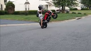 Crashing While Popping A Wheelie 😂
